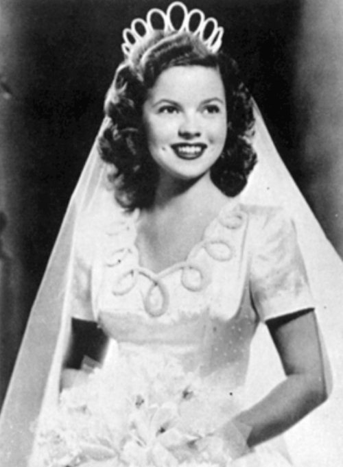 Shirley Temple - wedding, 1945
